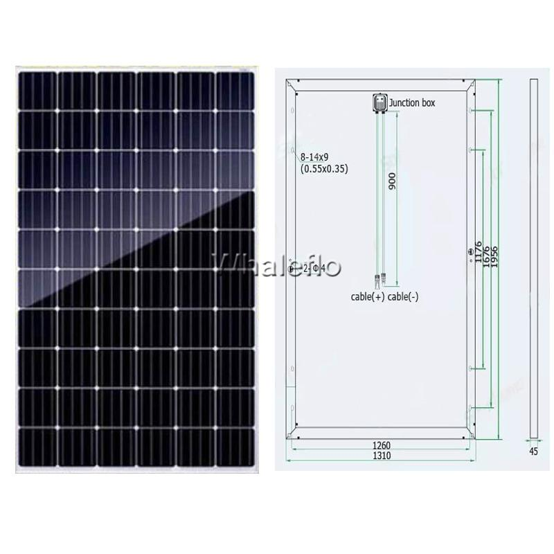 Whaleflo solar panel drawing